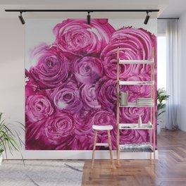 Pink roses Wall Mural