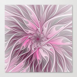 Abstract Pink Floral Dream Canvas Print