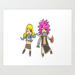 FairyTail-Natsu and Lucy Art Print