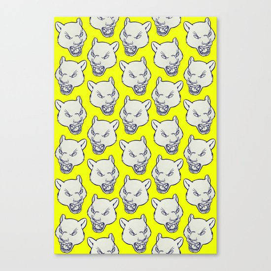 PANTHERS PUNCH Canvas Print