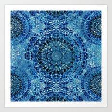 Boho Pool Mandalas Art Print