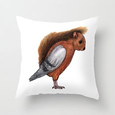 Squigeon Throw Pillow