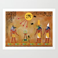egypt Art Prints featuring Egypt by Michele Roper