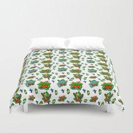 Tropical Bird of Paradise Pattern Duvet Cover
