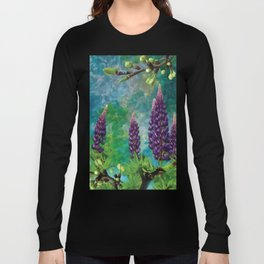 For The Love Of Lupines by annmariescreations Long Sleeve T-shirt