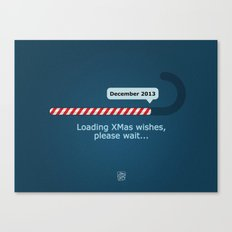 XMAS Wishes preloader Canvas Print