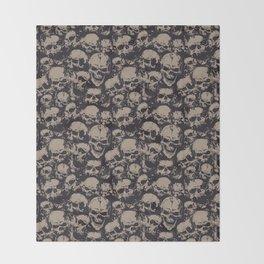 Skulls Seamless Throw Blanket