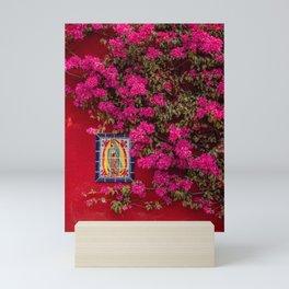 Floral wall San Miguel de Allende   Travel photgraphy Mini Art Print