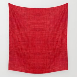 Red fibrous cloth texture abstract Wall Tapestry