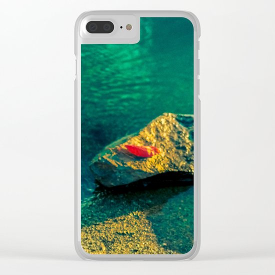 Red leaf Clear iPhone Case