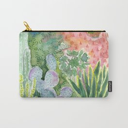 Cactus in the Moonlight Watercolor Carry-All Pouch