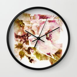 slashed floral Wall Clock