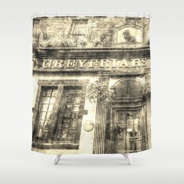 Greyfriars Bobby Pub Edinburgh Vintage Shower Curtain