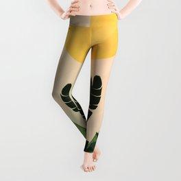 Sunny heliconia Leggings