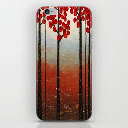 Red Blossom iPhone Skin