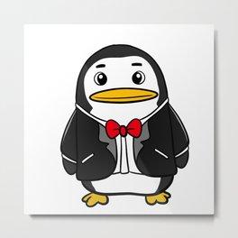 Penguin in a Tuxedo Metal Print