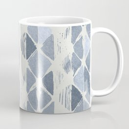 Simply Braided Chevron Indigo Blue on Lunar Gray Coffee Mug