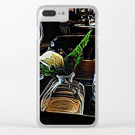 The Leaning Flower of Pisa Clear iPhone Case