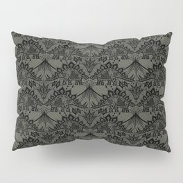 Stegosaurus Lace - Black / Grey Pillow Sham