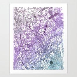 Marker Scratch Art Print