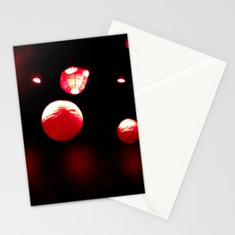 Crimson Orbs Stationery Cards