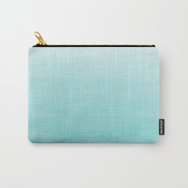Modern teal watercolor gradient ombre brushstrokes pattern Carry-All Pouch