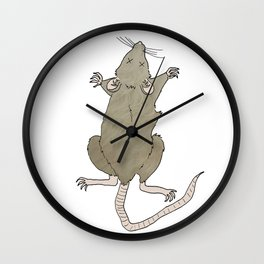 Dead Rat Wall Clock
