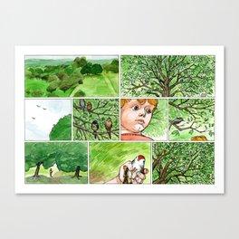 Untitled (Boy & Bird) Canvas Print