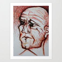 Visage 10 Art Print