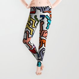 Homage to Keith Haring Color Leggings