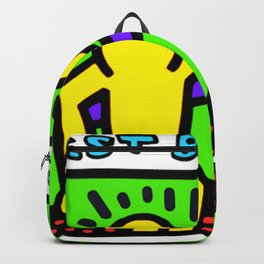 "Keith Haring inspired ""Best Buddies"" Complementary Color Y&P edition Backpack"