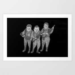 Zombies in my backyard: Ghostbusters Art Print