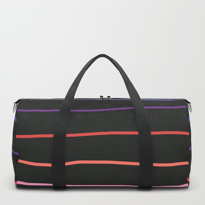 Abstract Retro Stripes #4 Duffle Bag