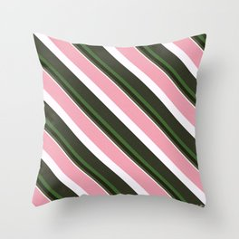 Pink Roses in Anzures 3 Stripes 5D Throw Pillow