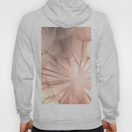 Pink Dandelion Macro Nature Photography Art and Apparel Hoody