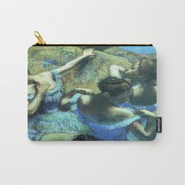Blue Dancers by Edgar Degas Carry-All Pouch