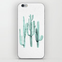Cactus Trio Turquoise by Nature Magick iPhone Skin