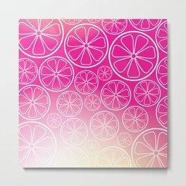 Citrus slices (pink grapefruit) Metal Print
