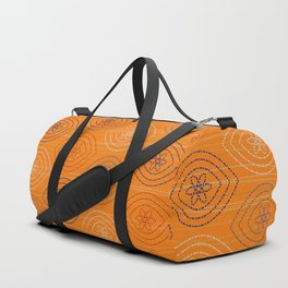 Moroccan silk in orange Duffle Bag