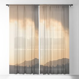Mountain Sunset - New Mexico Adventure Sheer Curtain