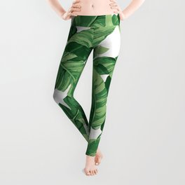 Tropical banana leaves IV Leggings
