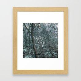 Nature is Bliss  Framed Art Print