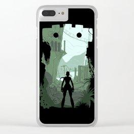 Lara Croft Clear iPhone Case