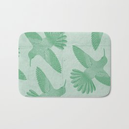 Hummingbird Pattern Bath Mat