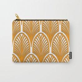 Orange,white,art deco, vintage,fan pattern, art nouveau, vintage, Carry-All Pouch
