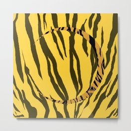 Tiger Bite | Minimalist | Abstract | Modern | Shapes | Geometrix Metal Print