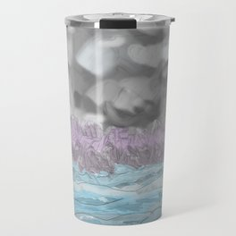 Water from Air hits Earth Travel Mug