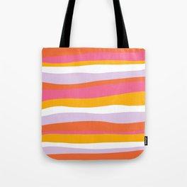 cali beach stripes Tote Bag