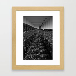 The straight line is godless and immoral. Framed Art Print