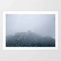 Mystical castle ruin Art Print